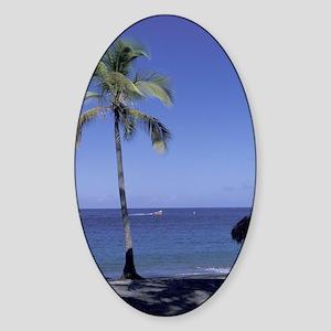 Caribbean, St. Lucia, Soufriere, An Sticker (Oval)