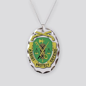 DUI-35TH MILITARY POLICE DETAC Necklace Oval Charm