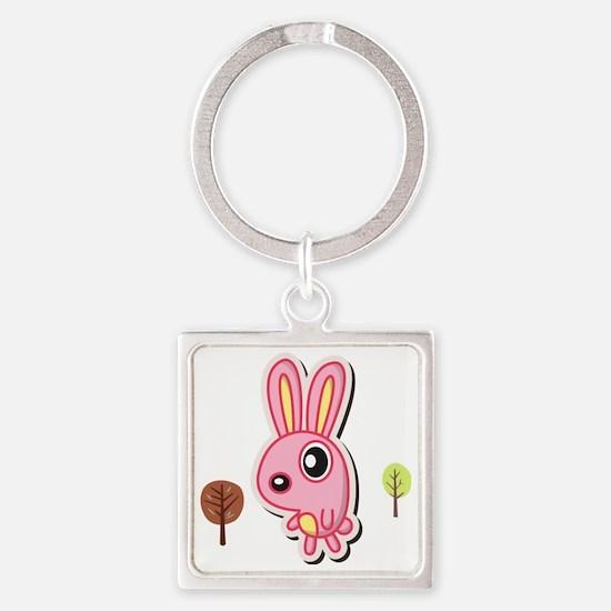bunny Square Keychain