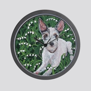 Mousie JackRussell Wall Clock