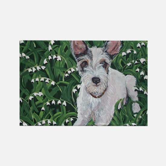 Mousie JackRussell Rectangle Magnet