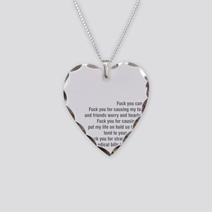 Fuck cancer 092511 Necklace Heart Charm