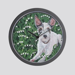 MouseLite JackRussell Wall Clock