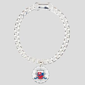 slovakiashield Charm Bracelet, One Charm