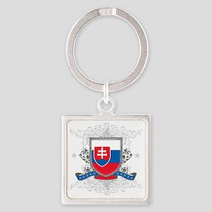 slovakiashield Square Keychain