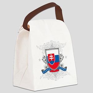 slovakiashield Canvas Lunch Bag