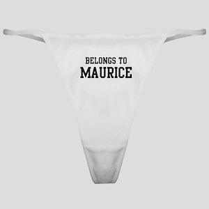 Belongs to Maurice Classic Thong