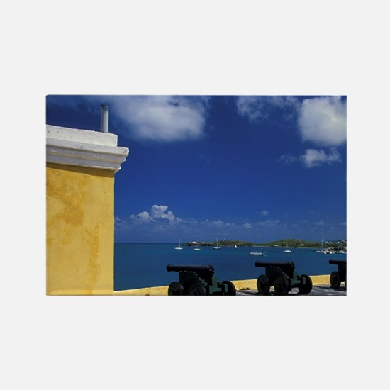 Croix, Christiansted. Fort Christ Rectangle Magnet