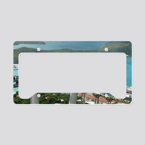 St. Thomas Skyride. View of c License Plate Holder