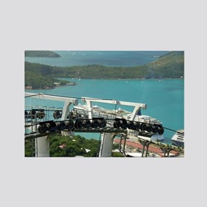 St. Thomas Skyride. View of cruis Rectangle Magnet