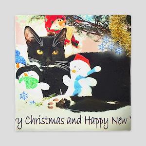 Christmas kitty Queen Duvet