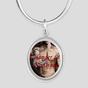 DS_HungerRdBrder_HighRes Silver Oval Necklace