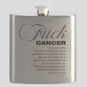 Fuck cancer White 092511 Flask
