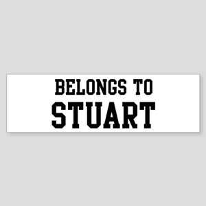 Belongs to Stuart Bumper Sticker