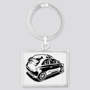 500 drop top 01 Landscape Keychain