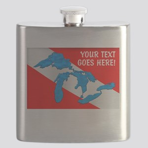 Great Lakes Dive Personalized Flask
