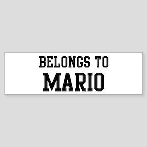 Belongs to Mario Bumper Sticker