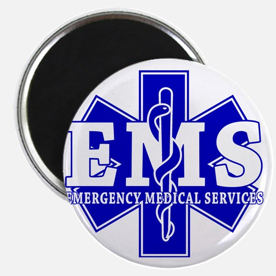 star of life - blue EMS word Magnet
