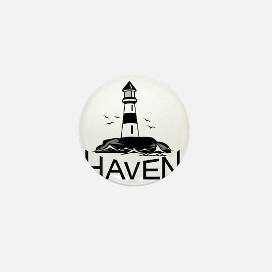 Unofficial Haven Logo White Mini Button