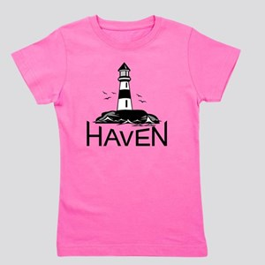 Unofficial Haven Logo White Girl's Tee