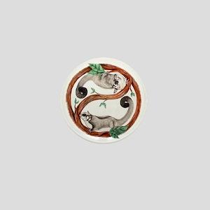yin yang cutout Mini Button