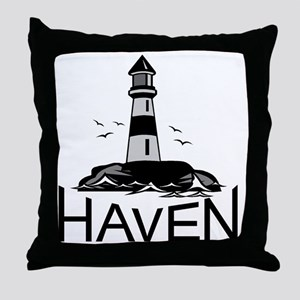 Unofficial Haven Logo Colored Throw Pillow