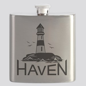 Unofficial Haven Logo Colored Flask