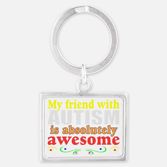 Awesome autism family Landscape Keychain
