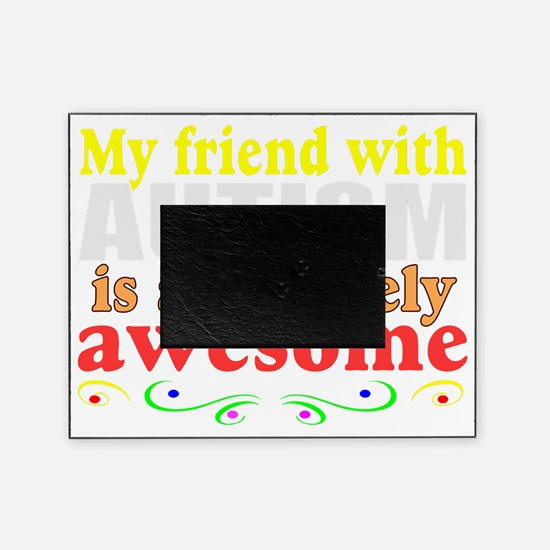 Awesome autism family Picture Frame