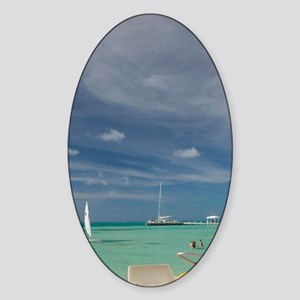 CAYMAN ISLANDS, GRAND CAYMAN, Rum P Sticker (Oval)