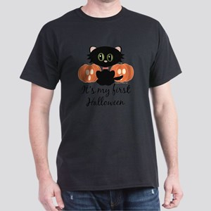 MyFirstHalloweenCatPumpkins Dark T-Shirt