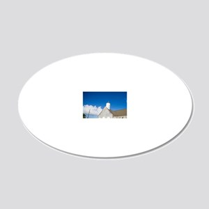 St. Thomas Anglican Church 20x12 Oval Wall Decal