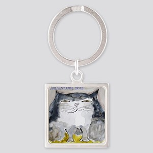 Front Page Calendar Square Keychain