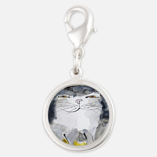 Front Page Calendar Silver Round Charm