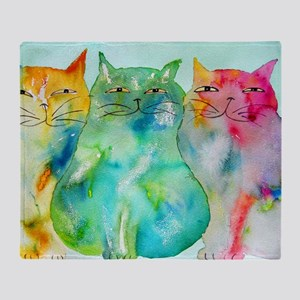 Haleiwa Cats 250 Throw Blanket