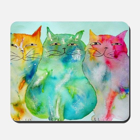 Haleiwa Cats 250 Mousepad