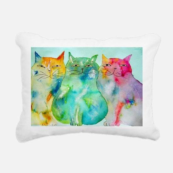 Haleiwa Cats 250 Rectangular Canvas Pillow