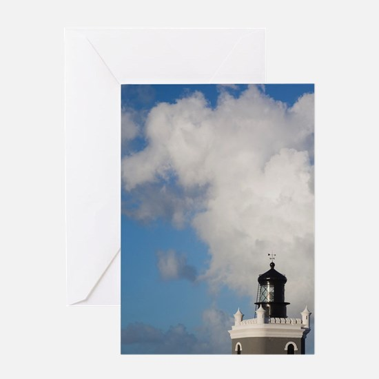 El Morro lighthousean, Old San Juan, Greeting Card