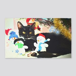 Christmas kitty 3'x5' Area Rug