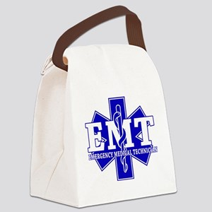 star of life - blue EMT word Canvas Lunch Bag