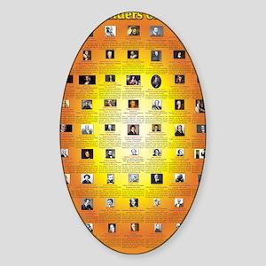 Founders of Science 23x35 RGB Sticker (Oval)