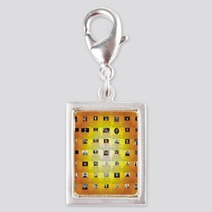 Founders of Science 23x35 RG Silver Portrait Charm