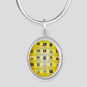 Founders of Science 23x35 RGB Silver Oval Necklace