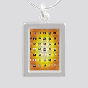 Founders of Science 23x3 Silver Portrait Necklace