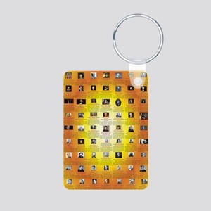Founders of Science 23x35  Aluminum Photo Keychain