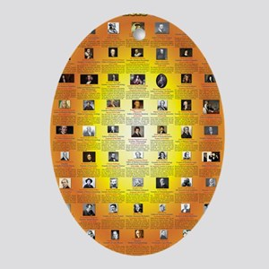 Founders of Science 23x35 RGB Oval Ornament