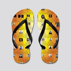Founders of Science 23x35 RGB Flip Flops