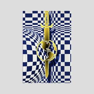 checker 1 Rectangle Magnet