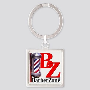 Official BarberZone Logo Square Keychain