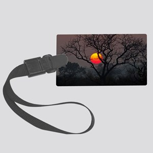 Sunset at Londolozi Large Luggage Tag